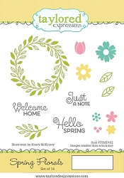 Taylored Expressions - Cling Mounted Rubber Stamp - Spring Florals