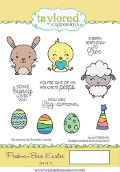 Taylored Expressions - Cling Mounted Rubber Stamp - Peek-a-Boo Easter