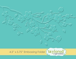 Taylored Expressions - Embossing Folder - Cherry Blossoms