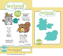 Taylored Expressions - Rubber Cling Stamps & Die Set - Spring Grumplings