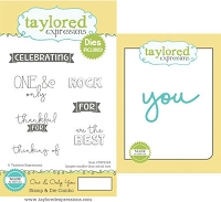 Taylored Expressions - Rubber Cling Stamps & Die Set - One & Only You