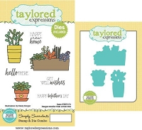Taylored Expressions - Rubber Cling Stamps & Die Set - Simply Succulents