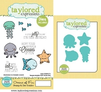 Taylored Expressions - Rubber Cling Stamps & Die Set - Oceans of Fun