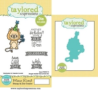Taylored Expressions - Rubber Cling Stamps & Die Set - Maine Event