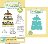 Taylored Expressions - Rubber Cling Stamps & Die Set - Sweet Tooth Tower