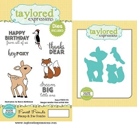 Taylored Expressions - Rubber Cling Stamps & Die Set - Forest Friends