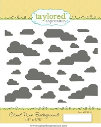 Taylored Expressions - Cling Mounted Rubber Stamp - Cloud 9 Background