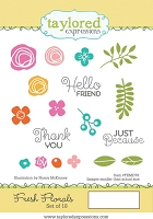 Taylored Expressions - Cling Mounted Rubber Stamp - Fresh Florals