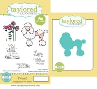 Taylored Expressions - Rubber Cling Stamps & Die Set - Mimi