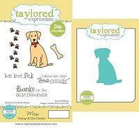 Taylored Expressions - Rubber Cling Stamps & Die Set - Max