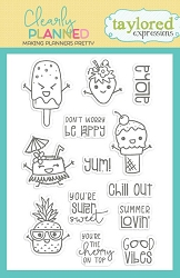 Taylored Expressions - Clearly Planned Clear Stamp - Super Sweet