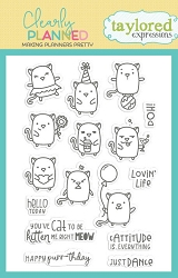 Taylored Expressions - Clearly Planned Clear Stamp - Cattitude