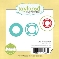 Taylored Expressions - Cutting Die - Little Bits Life Preserver