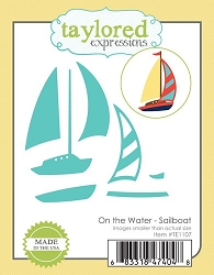 Taylored Expressions - Cutting Die - On The Water Sailboat