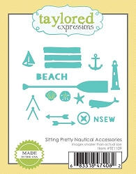 Taylored Expressions - Cutting Die - Sitting Pretty Nautical Accessories