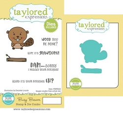 Taylored Expressions - Rubber Cling Stamps & Die Set - Busy Beaver
