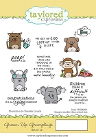 Taylored Expressions - Cling Mounted Rubber Stamp - Grown Up Grumplings