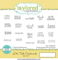 Taylored Expressions - Cling Mounted Rubber Stamp - Let's Talk Sentiments