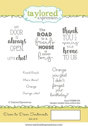 Taylored Expressions - Cling Mounted Rubber Stamp - Door to Door Sentiments