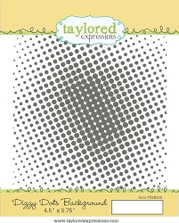 Taylored Expressions - Cling Mounted Rubber Stamp - Dizzy Dots Background
