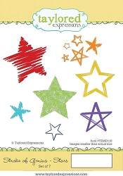 Taylored Expressions - Cling Mounted Rubber Stamp - Stroke of Genius Stars