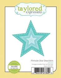 Taylored Expressions - Cutting Die - Pinhole Star Stacklets
