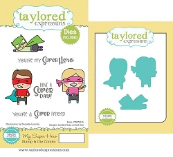 Taylored Expressions - Rubber Cling Stamps & Die Set - My Super Hero