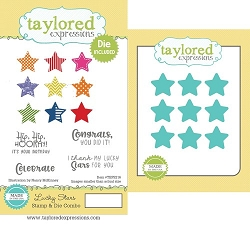 Taylored Expressions - Rubber Cling Stamps & Die Set - Lucky Stars