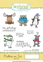 Taylored Expressions - Cling Mounted Rubber Stamp - Critters On Ice