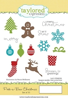 Taylored Expressions - Cling Mounted Rubber Stamp - Peek-a-Boo Christmas