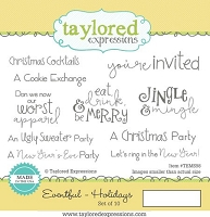 Taylored Expressions - Cling Mounted Rubber Stamp - Eventful Holidays