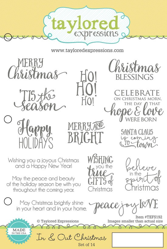 Christmas Expressions.Taylored Expressions Cling Mounted Rubber Stamp In Out Christmas