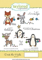 Taylored Expressions - Cling Mounted Rubber Stamp - Deck The Halls
