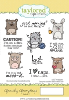 Taylored Expressions - Cling Mounted Rubber Stamp - Grouchy Grumplings