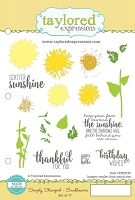 Taylored Expressions - Cling Mounted Rubber Stamp - Simply Stamped Sunflowers
