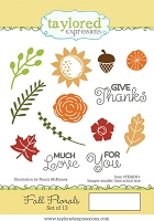 Taylored Expressions - Cling Mounted Rubber Stamp - Fall Florals