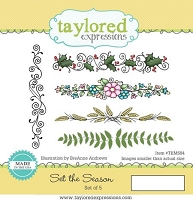Taylored Expressions - Cling Mounted Rubber Stamp - Set The Season