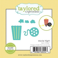 Taylored Expressions - Cutting Die - Movie Night :)