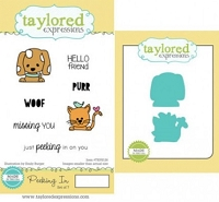 Taylored Expressions - Rubber Cling Stamps & Die Set - Peeking In