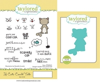 Taylored Expressions - Rubber Cling Stamps & Die Set - If Cats Could Talk