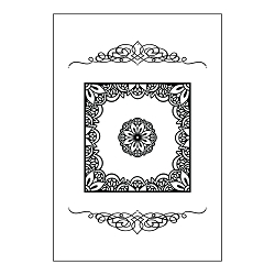 Tasha Armour Papercrafts - IOE Embossing Folder - Vintage View (5