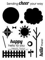 Technique Tuesday Clear Stamp - Happyville Sunshine