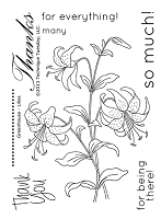 Technique Tuesday Clear Stamp - Greenhouse Society Lilies