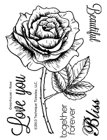 Technique Tuesday Clear Stamp - Greenhouse Society Rose