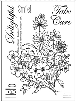 Technique Tuesday Clear Stamp - Greenhouse Society Bouquet