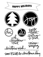 Technique Tuesday - Clear Stamp - Christmas Day (by Ali Edwards)
