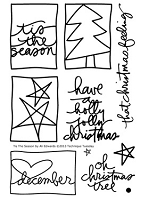 Technique Tuesday - Clear Stamp - Tis The Season (by Ali Edwards)
