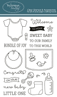 Technique Tuesday - Clear Stamp - Bundle of Joy