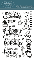Technique Tuesday - Clear Stamp - Christmas Cheer