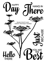 Technique Tuesday - Clear Stamp - Greenhouse Society - Queen Anne's Lace
